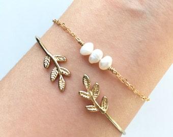 Dainty Pearl Set Layering Layered Jewelry Bracelet Minimalistic Simple Bridesmaid Birthday Gift Bracelet, Cute Friendship Bracelet AAEAAP