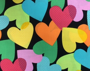 Michael Miller - BRIT (BIG HEART) - 100% Cotton Premium Quality Fabric - Per 1/2 Yard