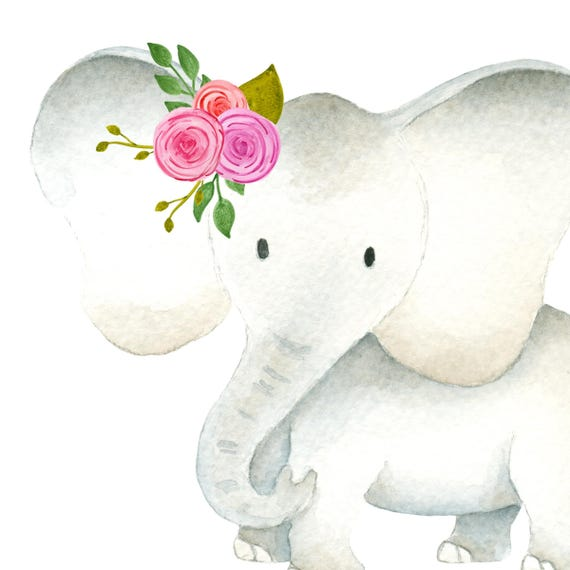 Cute Elephant Clipart Baby Amp Mama Elephants Clipart Set