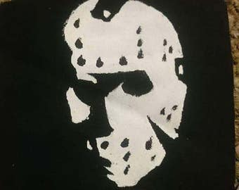 Jason Voorhees mask patch