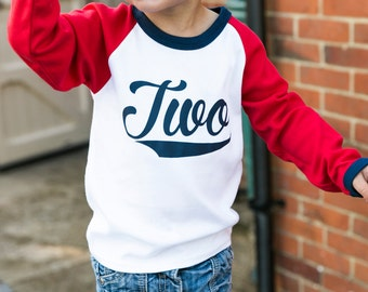 Raglan 2nd Birthday Outfit | Second Birthday Outfit | Boy Second Birthday | 2nd Birthday Shirt Boy | Raglan Baseball Two