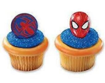 One Dozen Spiderman Cupcake Rings