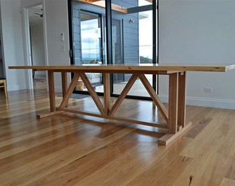 Recycled Timber Barn Farmhouse Dining Table / Made To Order In Any Size / Victorian Ash / Australian Made / very sturdy!