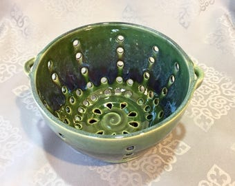 Handmade Ceramic Berry Bowl /Strainer