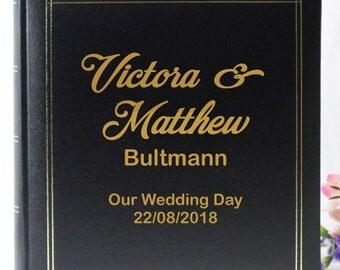 Personalised Wedding Photo Album-Names