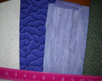 Destash- Group Of 4 Cotton Quilting Remnants For Quilting Or Crafting