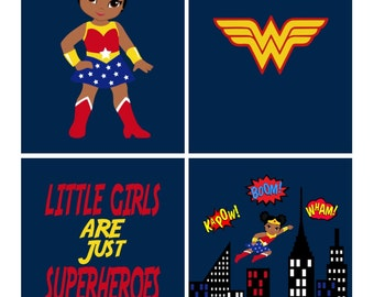 Girl Superhero Decor Etsy