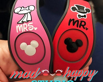 Couples Love Wedding Anniversary Magic Band Decals