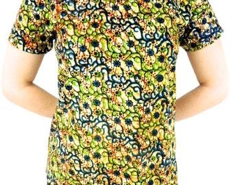 African Top, African Print Top, Ankara Top, African Blouse, Ankara T-shirt, African Clothing, Short Sleeves