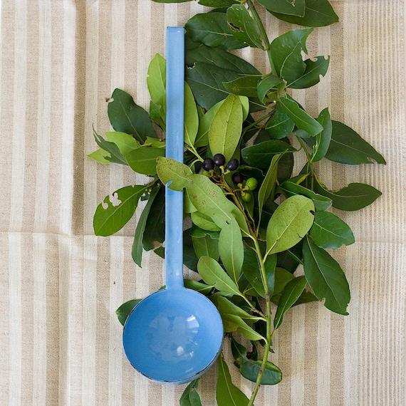 French Robin's Egg Blue Enamel Ladle