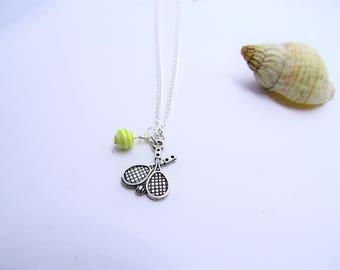 Wimbledon Special ~ Tennis necklace ~ tennis Jewelry ~ sporting jewellery ~ hobby necklace ~ champion necklace ~ gift for her ~ tennis lover
