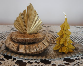 Beeswax Christmas Tree Candle - Xmas, Christmas Table Centre Piece - Xmas Tree Beeswax Candle