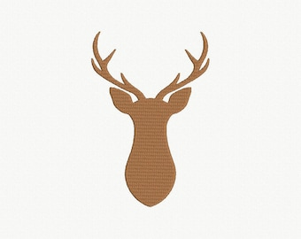 Deer Silhouette Machine Embroidery Design - 4 Sizes