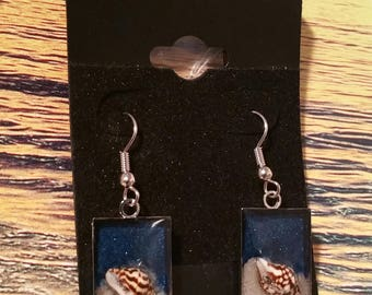 Sand and Sea Shell Earrings