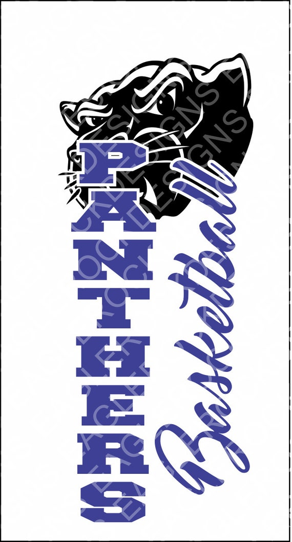 Panthers Basketball SVG DXF EPS Cut File Panther Svg