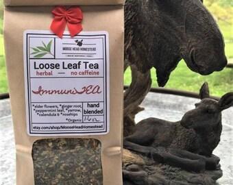 ImmuniTEA-herbal tea blend, organic, loose leaf, cold & flu, hand-blended