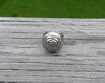 SALE Repurposed rose button ring