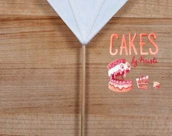Fondant Diamond Cake Topper (MADE TO ORDER)