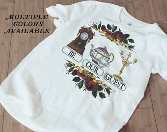 Be our Guest, Beauty and the Beast, Beauty and the Beast T-shirt, disney shirt, two styles available, Sizes (US) Small-3XL