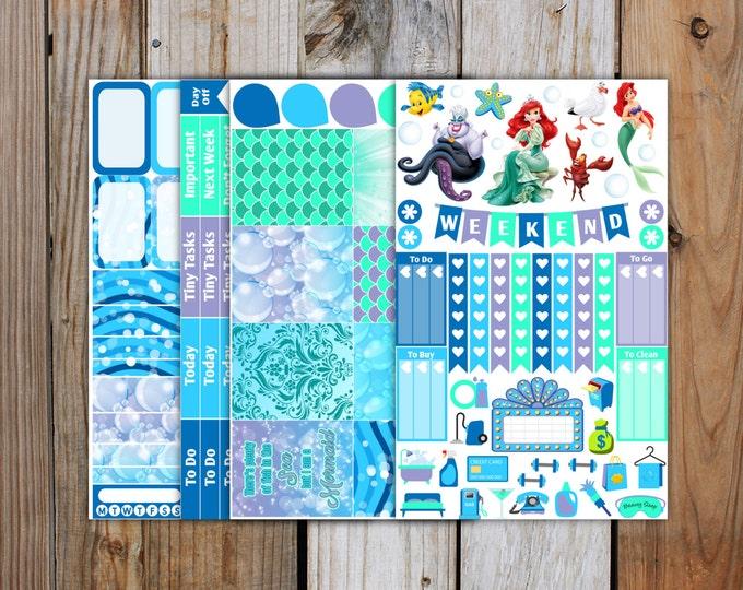 Planner Sticker MINI Kit   Little Mermaid Planner Stickers Kit for use with ERIN CONDREN Life Planner