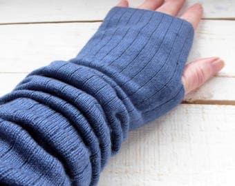 Cashmere silk wrist warmers