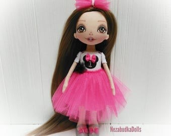 MinnieMouse Handmade Dolls Ragdolls Art Dolls Ooak dolls Personalized Gift for daughter Cloth Dolls Fabric Dolls Soft Toys Decor Stuffed Toy