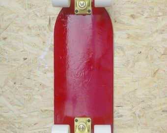 Up Cycled Red Cruiser Skateboard 23.25""