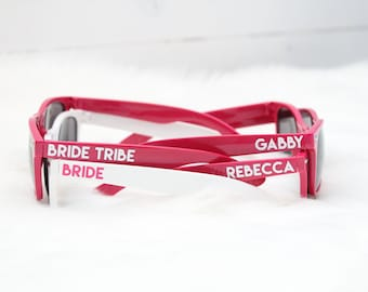 Personalized wedding sunglasses - Bride Tribe - bachelorette party sunglasses - wedding favor - bachelor party - girls night - spring break