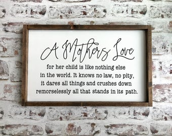 A Mothers Love for her Children wood sign. Mother's Day gift. Farmhouse decor. Farmhouse style. Farmhouse sign. Gallery wall.