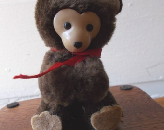 Vintage Dakin Bear Clip On Plush Pencil Hugger 1984