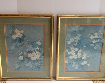 Pair of framed Chinoiserie prints