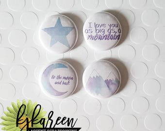 """Badge 1 """"- To The Moon and Back"""
