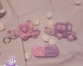 Kawaii Hospital menhera yamikawaii pastel ambulance pills nurse
