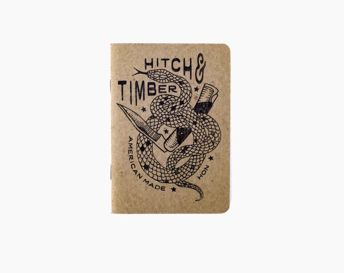 Set of 3 - Timber Hitch Snake Notebooks for Everyday Carry