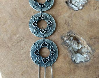 SALE - Vintage Chunky Necklace - Large Pendant - Bohemian Jewelry - 1960