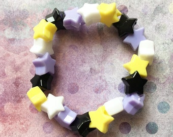 Nonbinary Flag Star Bracelet