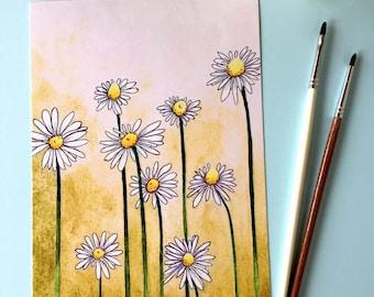 Daisies art print, 5x7