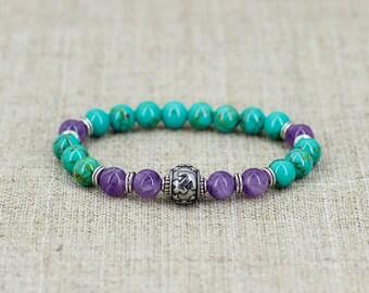 Amethyst bracelet Turquoise bracelet Sagittarius-jewelry Zodiac-bracelet Zodiac-jewelry Birthstone-bracelet-men-gift-for-mom-birthday-gift