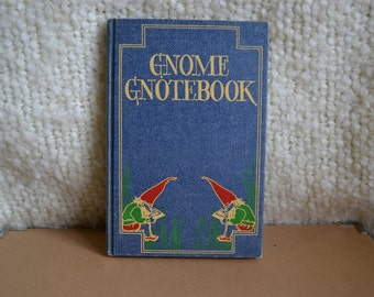 Vintage Gnome Gnotebook/Journal - Retro - Journal - Notebook
