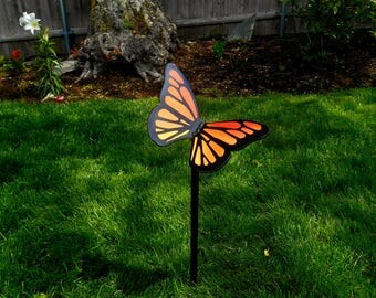 Butterfly Garden Stake , Butterfly Metal Sculpture, Garden Sculpture, Butterfly garden Art, Lawn Decor, Mothers Day Gift, Metal garden Stake