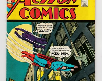 Action Comics #430 Superman 1973 DC Comic Book-Chameleon Lizard Monster In Clark Kent's Building-Tiny Titan The Atom-Aurora Car Model Ad