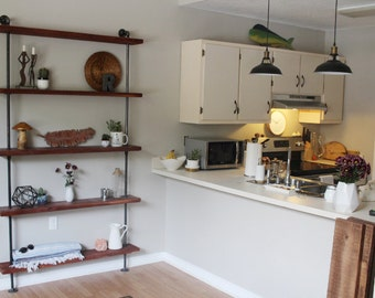 Reclaimed wood shelf, Industrial shelving unit, Shelves, Urban Wood, Wood shelf, Wood shelving, Rustic, Book shelf, Picture shelf