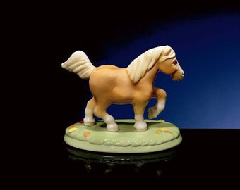 "Porcelain Palomino Pony Named ""Breezy"""