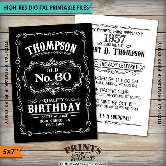 50th Birthday Liquor: Vintage Birthday Invitation Aged To Perfection Alcohol Theme