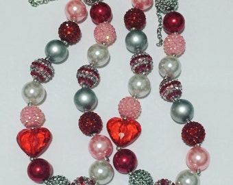 Big heart chunky necklace