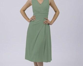 Sage Classic Short Bridesmaid/Prom Dress by Matchimony