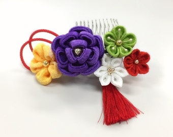 "Thumb crafted ornament, purple hanawabuilding ornament."""