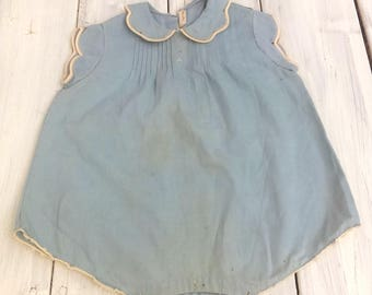 Vintage Handmade Baby Romper/Collector/ Vintage Display/Doll Clothes/Sold AS-IS