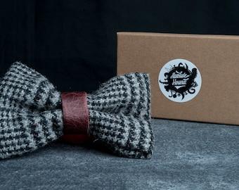 Tweed Dog Bowtie - Collar accessories - Handmade tweed bow tie - Idea gift for dogs and puppies - Stunning harris tweed
