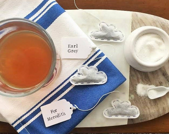 Cloud Shaped Tea Bags - Choose Your Tea. Personalize the Tag.